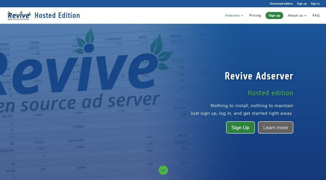 Revive Adserver Hosted edition updated to version 4.2.1